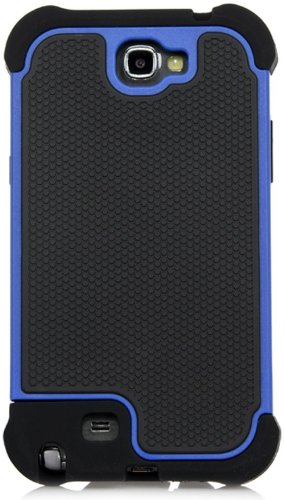Galaxy Note 2 Case, iSee Case (TM) Heavy Duty Dual Layer Hybrid Protective Cover Case for Samsung Galaxy Note 2 II N7100 (Note2-3 in 1 Blue) (Galaxy Ii Case compare prices)