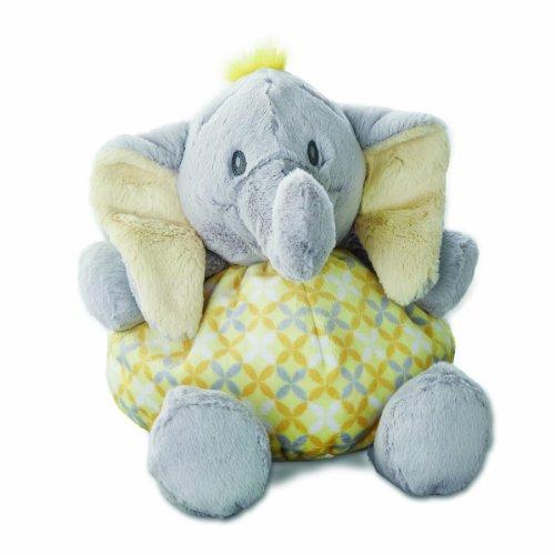 Nat and Jules Rattle Plush Toy, Tusk Elephant