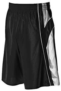 Buy Alleson 547P2 Adult Dazzle Basketball Shorts BK WH - BLACK WHITE AL