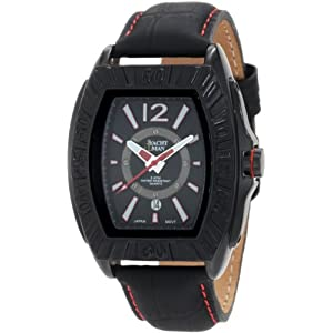 Yachtman Men's YM0125RE Maverick Black Barrel Case with Black Dial Watch