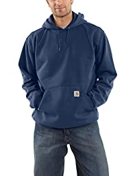 Carhartt Men\'s Big & Tall Midweight Sweatshirt Hooded Pullover Original Fit,New Navy,XX-Large Tall