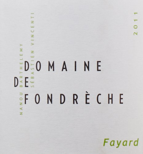 """2011 Domaine De Fondreche Rouge """"Fayard,"""" Ventoux 750 Ml"""
