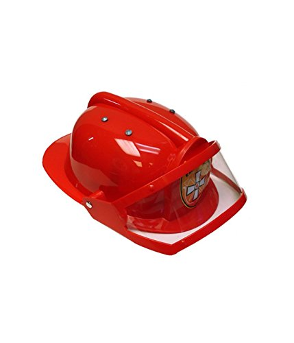 Little Boys' Firefighter Plastic Helmet with Sliding Clear Visor