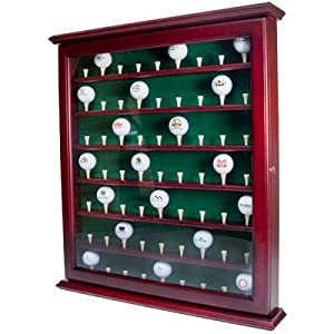 63 Ball Display Cabinet with Door by Golf Gifts & Gallery