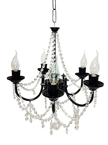 Prop It Up Shiny Black Crystal Chandelier (Dia - 50 cm, Height - 35 cm, Medium)