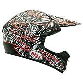 ベルpowersports道モトクロスバイクのヘルメットの2012年をsx-1(散在ホワイト/オレンジxs)