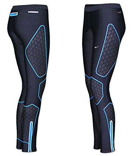 Nike Women's Dri-Fit Running Long Tights Black-Blue