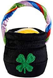 Plush Pot O' Gold Purse With Rainbow Handle (Black/Green;One Size)