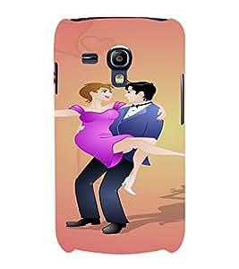PrintVisa Married Couple Design Art 3D Hard Polycarbonate Designer Back Case Cover for Samsung Galaxy S3 Mini