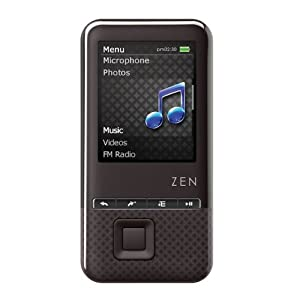 Creative ZEN Style 100 MP3 Player 4GB, with Voice Recorder Built In (Black), NEW, BULK PACKAGED