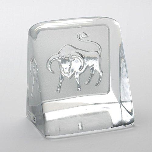 Made in Svezia-Segno del Zodiaco Toro Fermacarte/Serra Libro cristallo Zodiac Collection By Christian Bounaix©