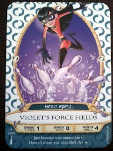 Sorcerers Mask of the Magic Kingdom Game, Walt Disney World - Card #21 Violet's Force Fields