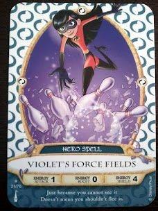 Sorcerers Mask of the Magic Kingdom Game, Walt Disney World - Card #21 Violet's Force Fields - 1