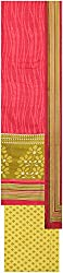 Payal Collection's Women's Cotton Unstitched Salwar (Red and Green)