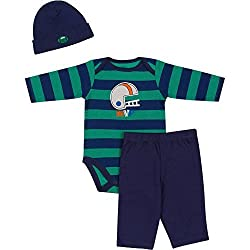 Gerber 3pc Baby Boys Thermal Pant Sets (3-6 Months, Navy Football)