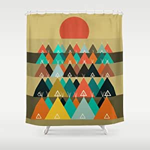 Amazon.com: Society6 - Tipi Moon Shower Curtain by Bri.buckley: Home