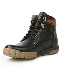 BACCA BUCCI MEN BLACK GENUINE LEATHER BOOTS