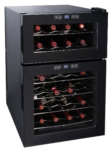 Great Features Of Igloo FRW289 Dual Temperature Zone Wine Cooler, 24 Bottle