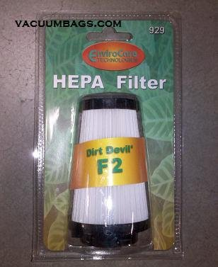 Dirt Devil F2 Hepa Vacuum Cleaner Filter - 1 Piece - Generic front-638452