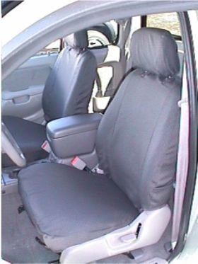 T782-D8. Durafit Seat Covers-Gray Toyota Tacoma Pair of Flat Bucket Exact Seat Covers in Dark Gray Automotive Twill. (Tacoma Seat Covers Trd compare prices)