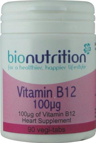 Bio Nutrition Vitamin B12 100µg : Healthy heart vitamin : 90 vegi-tabs