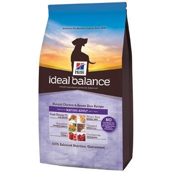 Hill's Ideal Balance Chicken & Brown Rice Senior Dog Food, 30 lbs.