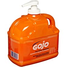 Gojo 0948-06 Low Profile Hand Cleaner, Natural Orange Color, 1/2 Gallon (Case of 6)