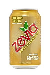 Zevia All Natural Soda, Cream Soda, 12 Ounce (Pack of 24) Frustration Free Package