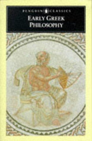 Early Greek Philosophy (Classics)