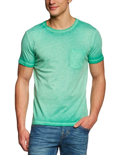 7 For All Mankind Wide Crew Pocket Men's T-Shirt Green Large - S654879GN