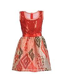 RoopRahasya Girls' Raw Silk Designer Dress Frock_RDXX122_7Y_Red