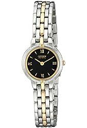 Citizen Women's EW9334-52E Eco-Drive Silhouette Two-Tone Bracelet Watch