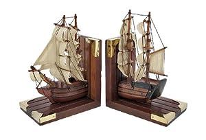 Sailing Ships Nautical Book Ends