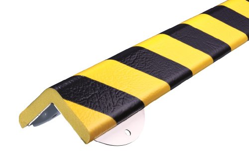 "Independent Warehouse 60-6862 Knuffi Type H+ Foam Corner Protection Soft Edge Warning And Bumper Guard, 1.64' Length X 5-29/32"" Width, Yellow/Black front-585465"