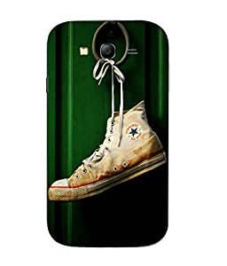 Snazzy Shoe Printed Green Hard Back Cover For Samsung Galaxy J1