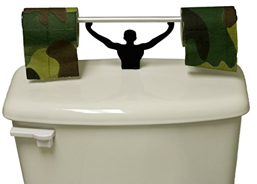 Fairly Odd Novelties Camouflage Toilet Paper with Strong Man Holder Military Camo Gift Set