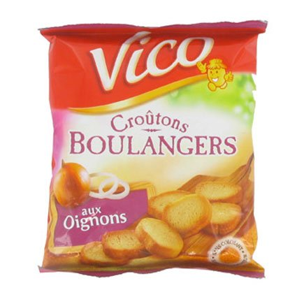 French onion croutons Vico-croutons oignon - 90 gr