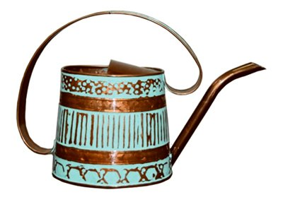 ROBERT ALLEN MPT01508 Danbury Metal Watering Can, Teal/Copper 0