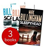 Mark Billingham Mark Billingham - Tom Thorne series - 3 books: Sleepy Head / Scaredy Cat / Lazy Bones rrp £23.97
