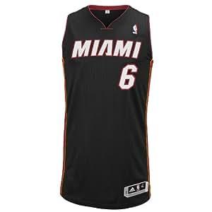 NBA Miami Heat Authentic Jersey LeBron James #6, XX-Large