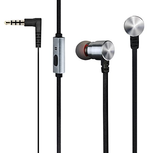 Mpow Auriculares In-ear por Cable de Jack de 3.5mm con Micrófono, Sonido Estéreo con Altavoces Duales Compatible con iPhone 6/6s iPad Samsung S5 Android Moviles