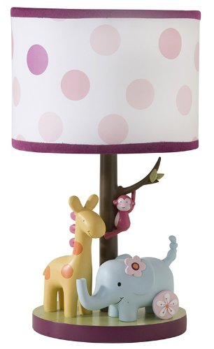 Lambs & Ivy Lollipop Jungle Lamp with Shade