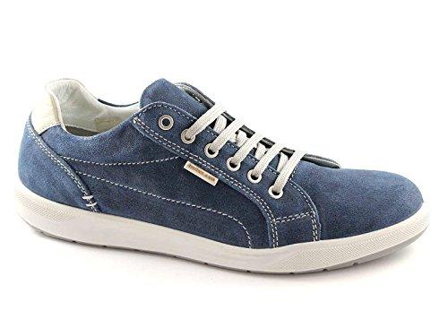 GRUNLAND RADA SC1716 jeans scarpe uomo sportive sneakers made in italy 46