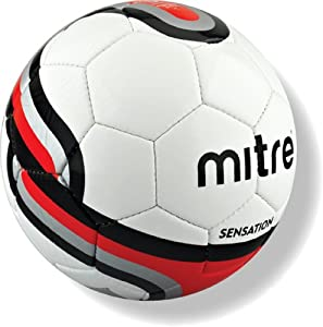 Mitre Sensation Training Football - White, Size 5 (Old Version)