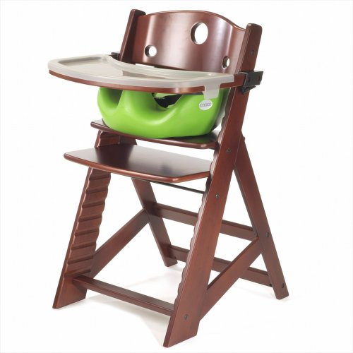 Keekaroo Height Right High Chair, Infant Insert And Tray Combo, Mahogany/Lime