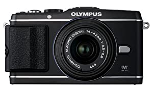 Olympus PEN E-P3 12.3 MP Live MOS Interchangeable Lens Camera with 14-42mm Zoom Lens (Black) (Old Model)
