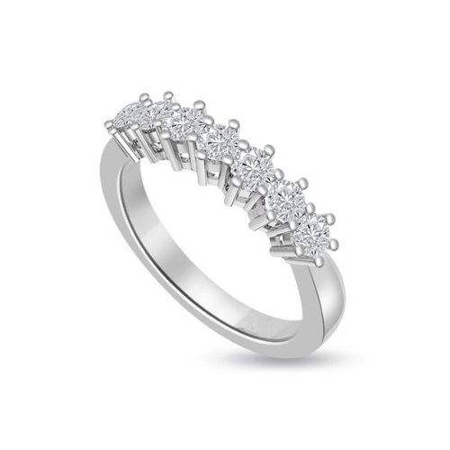 0.35ct G/SI1 Diamond Half Eternity Ring for Women with Round Brilliant cut diamonds in 18ct White Gold
