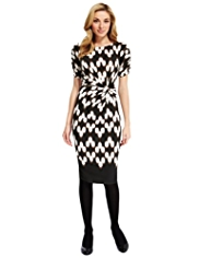 M&S Collection Twisted Front Ikat Print Dress