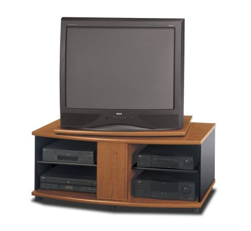Image of Bush Rosewood Maple w/Galaxy Finish Swivel TV Stand Video Base (VS39536)