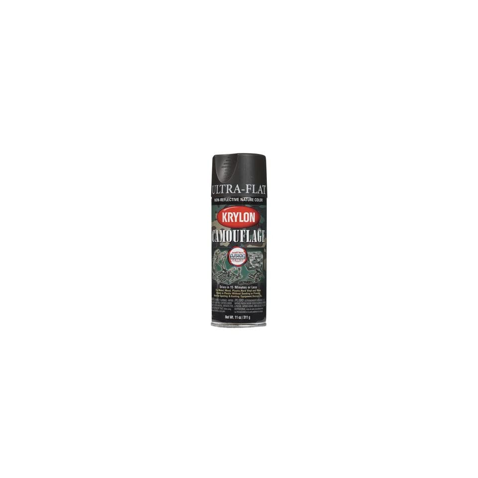 Krylon 4292 Camouflage with Fusion for Plastic Paint Technology Aerosol Spray Paint, 11 ounce, Brown (Pack of 6)